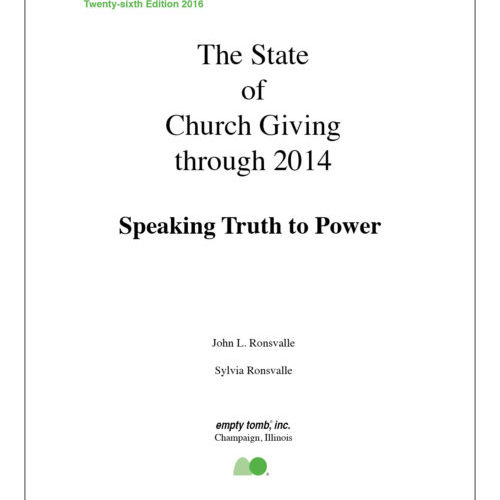 The State of Church Giving is Declining